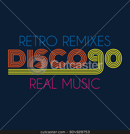 disco 90 typography, t-shirt graphics stock vector clipart, disco 90 typography, t-shirt graphics. Stock vector by Amelisk