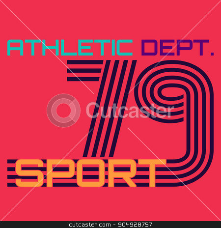 athletic dept. typography, t-shirt graphics stock vector clipart, athletic dept typography, t-shirt graphics. Stock vector by Amelisk
