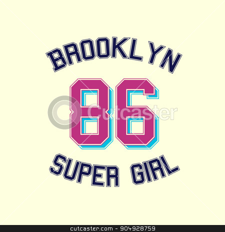 super girl typography, t-shirt graphics. stock vector clipart, super girl typography, t-shirt graphics. Stock vector by Amelisk