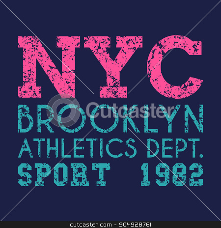 New York typography, t-shirt graphics stock vector clipart, New York typography, t-shirt graphics. Stock vector by Amelisk