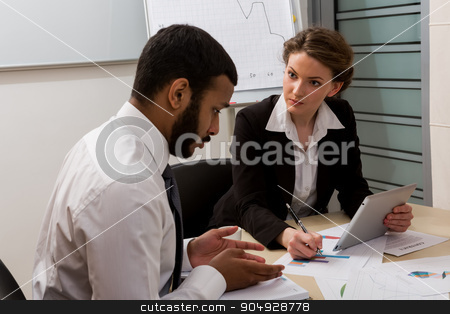 Guilty manager. stock photo, Guilty manager.Business training. Office life. Business people. by Denys