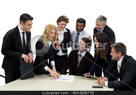 Business partners meeting. stock photo, Business partners meeting. Discussion of business project.  by Denys