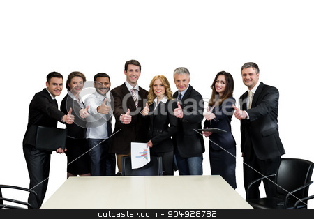 Team leaders. stock photo, Team leaders. Top managers are on a white background.  by Denys