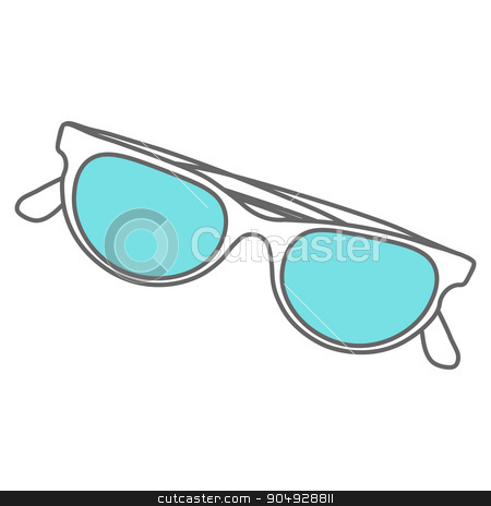 Line icons flat design elements. Modern vector Illustration pictogram of sunglasses stock vector clipart, Line icons flat design elements. Modern vector pictogram of sunglasses by Vladimir Khapaev