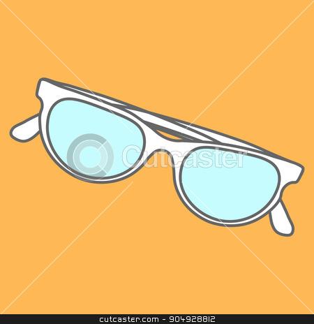 Line icons flat design elements. Modern vector Illustration pictogram of sunglasses stock vector clipart, Line icons flat design elements. Modern vector pictogram of sunglasses by Vladimir Khapaev