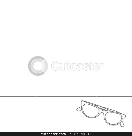 Line icons flat design elements. Modern vector Illustration pictogram of sunglasses. Abstract Creative concept vector background stock vector clipart, Line icons flat design elements. Modern vector Illustration pictogram of sunglasses. Abstract Creative concept vector background by Vladimir Khapaev