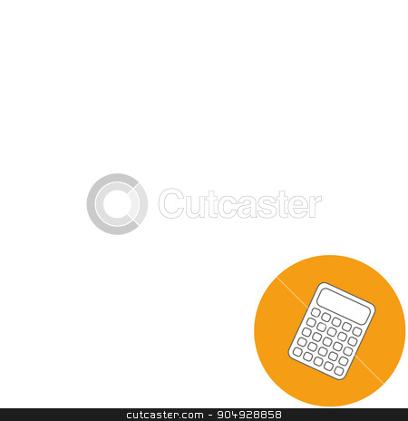 Abstract Creative concept vector background. Line icons flat design elements. Modern vector Illustration pictogram of Calculator stock vector clipart, Abstract Creative concept vector background. Line icons flat design elements. Modern vector Illustration pictogram of Calculator by Vladimir Khapaev