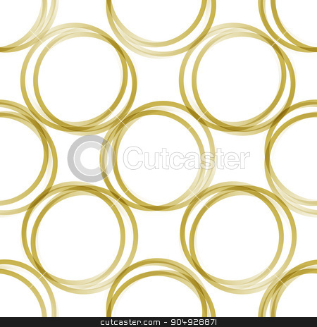 golden rings stock vector clipart, Seamless pattern of golden rings for decorative background with transparency by Anastasiya Ramanenka