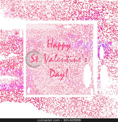 Vintage Valentione's Day stock vector clipart, Vintage decoration for St. Valentione's Day card  with dots by Anastasiya Ramanenka
