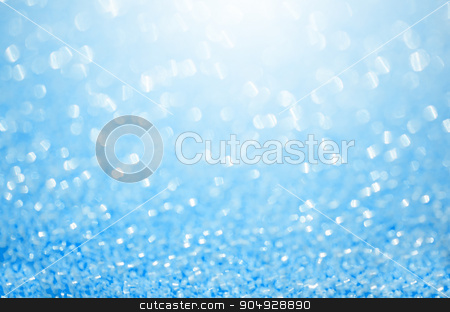 Abstract blue glitter background. stock photo, Abstract blue glitter background. Shiny glitter bokeh christmas background. by Miss. PENCHAN  PUMILA