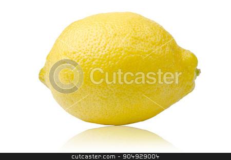 Fresh yellow lime or lemons. stock photo, Fresh yellow lime or lemons isolated on white background. by Miss. PENCHAN  PUMILA