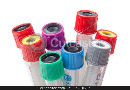 vacuum tubes for collecting. stock photo, vacuum tubes for collecting in the lab. by Miss. PENCHAN  PUMILA