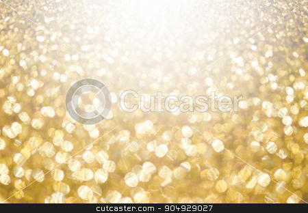 Abstract the gold light. stock photo, Abstract the gold light for holidays background. by Miss. PENCHAN  PUMILA