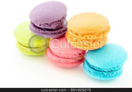 macaroons. stock photo, A french sweet delicacy, macaroons variety closeup. by Miss. PENCHAN  PUMILA