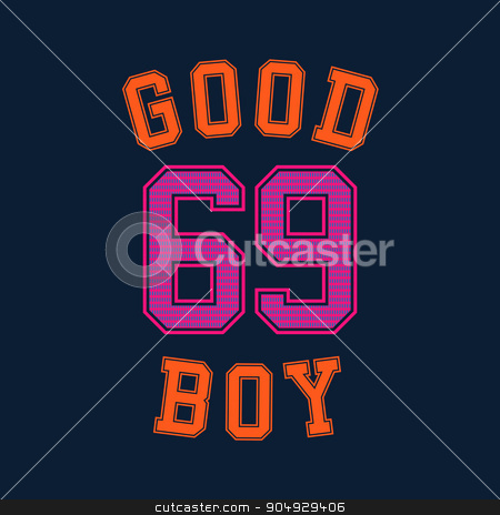 good boy typography, t-shirt graphics stock vector clipart, good boy t-shirt graphics design. Stock vector by Amelisk