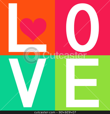 Love typography, t-shirt graphics stock vector clipart, Love t-sirt graphics design. The Stock vector by Amelisk