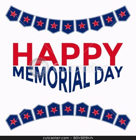 Vector illustration of memorial day stock vector clipart, Vector illustration of memorial day. Stock vector by Amelisk