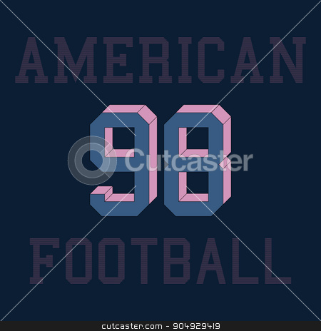american football typography, t-shirt graphics. Vector illustrat stock vector clipart,  by Amelisk