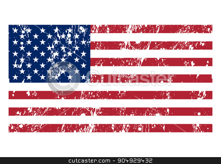 Vector illustration of the flag usa stock vector clipart, Vector illustration of the flag usa. Stock vector by Amelisk