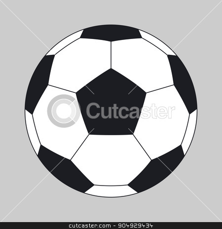 Vector illustration of a soccer ball stock vector clipart, Vector illustration of a soccer ball. Stock vector by Amelisk