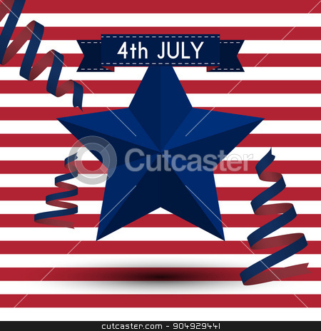 Vector illustration independence day usa stock vector clipart, Vector illustration independence day usa. Stock vector by Amelisk