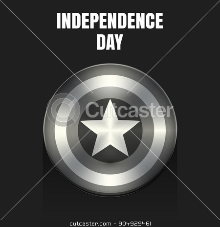 Stock Vector independence day shield stock vector clipart, Stock Vector independence day shield. Stock vector by Amelisk
