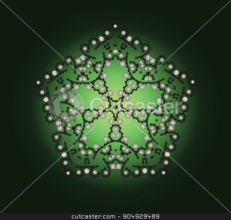 Abstract dark pattern stock vector clipart, Elegant abstract background with dark pentahedral arabesques by Liubov Nazarova