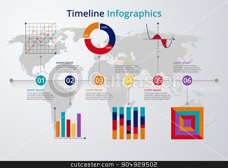Vector illustration Timeline. flat design stock vector clipart, Vector illustration Timeline. flat design. Stock vector by Amelisk