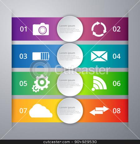 Vector illustration pattern of infographics stock vector clipart, Vector illustration pattern of infographics. Stock vector by Amelisk