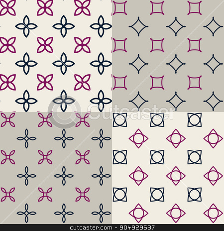 Vector illustration of a pattern stock vector clipart, Vector illustration of a pattern of geometric patterns. by Amelisk