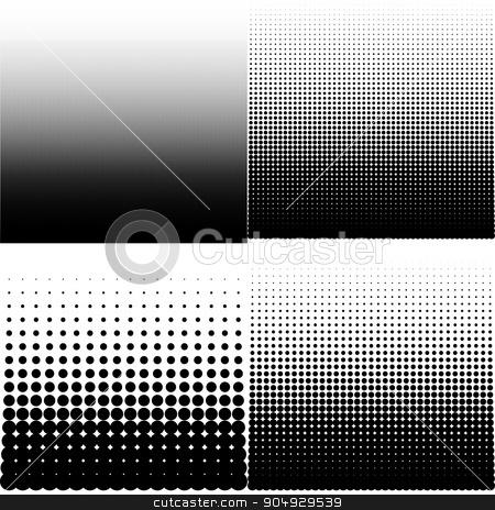 Vector illustration set of halftone stock vector clipart, Vector illustration set of halftone. Stock vector by Amelisk