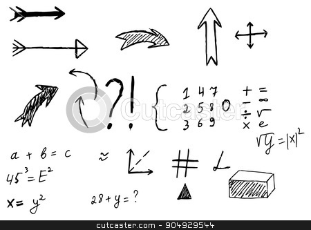 Vector illustration of a hand drawn arrows stock vector clipart, Vector illustration of a hand drawn arrows. by Amelisk