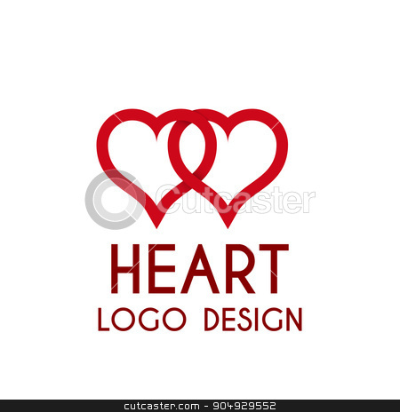 Vector illustration heart logo . 3d illustration. stock vector clipart, Vector illustration heart logo . 3d illustration. Stock vector by Amelisk