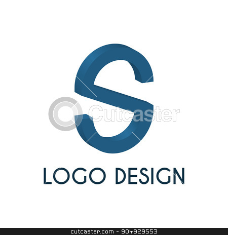 Stock logo letter s. 3d illustration. stock vector clipart, Stock logo letter s. 3d illustration. Stock vector by Amelisk
