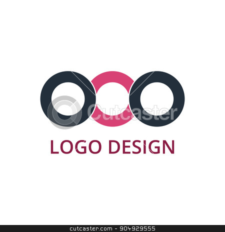Vector illustration of circle logo stock vector clipart, Vector illustration of circle logo. Stock vector by Amelisk