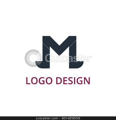 Vector illustration letter logo m stock vector clipart, Vector illustration letter logo m. Stock vector by Amelisk