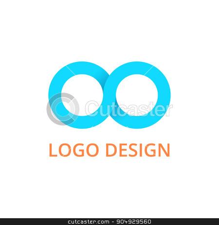 Vector illustration infinity logo stock vector clipart, Vector illustration infinity logo. The Stock vector by Amelisk