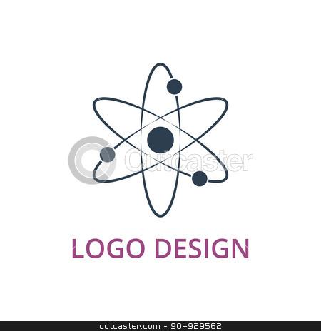 Vector illustration of an atom logo stock vector clipart, Vector illustration of an atom logo. Stock vector by Amelisk