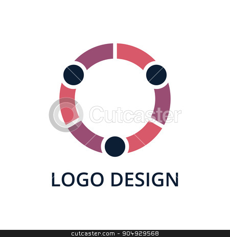 Vector illustration of people logo stock vector clipart, Vector illustration of people logo. Stock vector by Amelisk