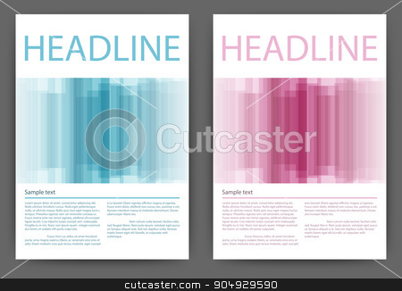 Vector illustration design magazine template stock vector clipart, Vector illustration of a design magazine template with stripes. by Amelisk