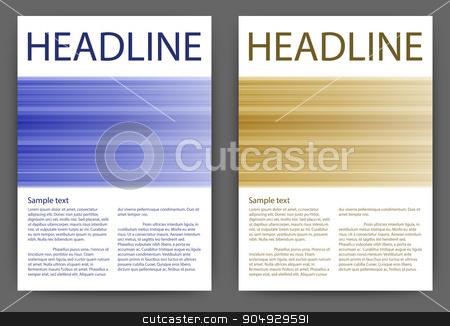 Vector illustration design magazine template stock vector clipart, Vector illustration of a design magazine template with stripes. by Amelisk