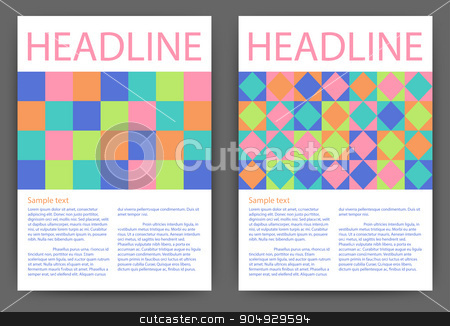 Vector illustration of colorful design stock vector clipart, Vector illustration of colorful design template brochure. by Amelisk