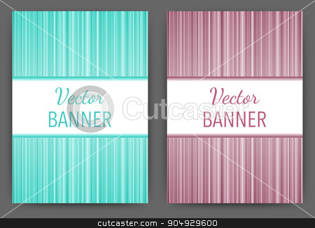 Vector illustration design magazine template stock vector clipart, Vector illustration of a design brochure template with stripes. by Amelisk