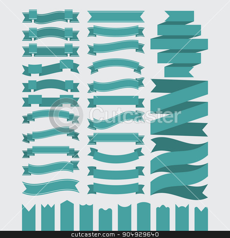 Stock Vector Set of ribbons stock vector clipart, Stock Vector Set of ribbons. Stock vector by Amelisk