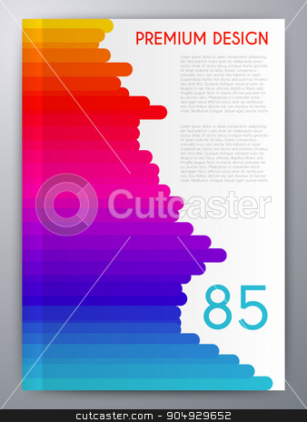 Vector illustration of abstract booklet stock vector clipart, Vector illustration of abstract booklet. magazine Cover. by Amelisk