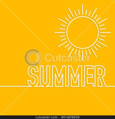 Vector illustration of a linear design summer sun. stock vector clipart, Vector illustration of a linear design summer sun. Stock vector by Amelisk