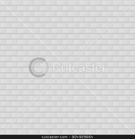 Vector illustration texture of white brick. stock vector clipart, Vector illustration texture of white brick. Stock vector by Amelisk