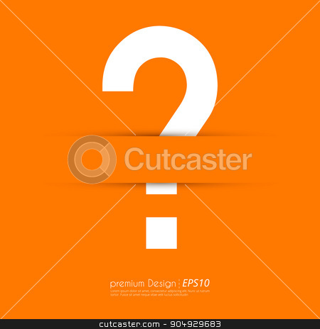 Vector illustration of a question mark stock vector clipart, Vector illustration of a question mark. Flat design. by Amelisk
