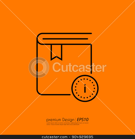 Stock Vector Linear icon information stock vector clipart, Stock Vector Linear icon information. Flat design. by Amelisk