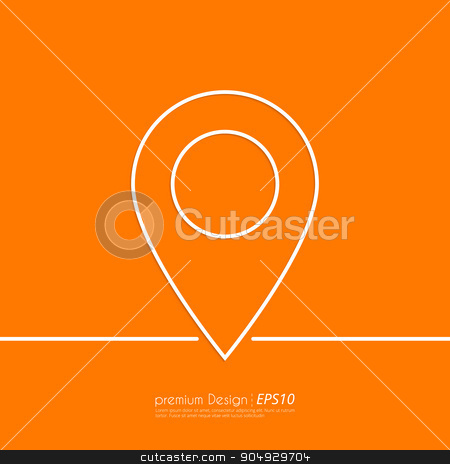 Stock Vector Linear icon label stock vector clipart, Stock Vector Linear icon label. Flat design. by Amelisk